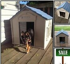 XL DOG HOUSE Shelter Kennel Large Plastic Durable Outdoor Portable Pet Crate