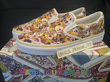 VANS CLASSIC SLIP ON LX TAKASHI MURAKAMI US 10 UK 9 EU 43 WHITE YELLOW SKULL