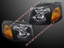 Pair Black Housing Headlights for 2002-2009 GMC Envoy / Envoy XL / Envoy XUV