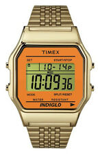 Timex TW2P65100 Women's Indiglo Vintage Gold Tone Metal Band Digital Watch