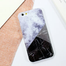 Glossy Granite Marble Contrast Color Hard Phone Cover Case for iPhone 6 6S Plus