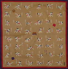Furoshiki Wrapping Cloth Japanese Fabric 'Sumo Wrestling Moves' Cotton 50cm