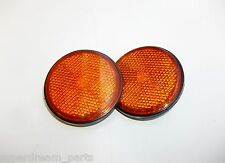 HONDA SUPERDREAM CB250N CB250NA NB - REPLACEMENT ROUND REFLECTORS x 2