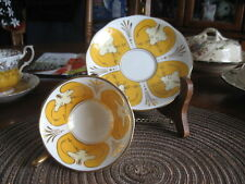 #V10 CUP SAUCER ROYAL ALBERT ENGLAND YELLOW & WHITE