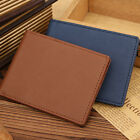 Men's Genuine Leather Thin Wallet Credit Card ID Holder Money Clip Purse