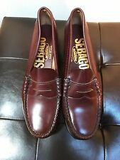 Sebago BROWN Penny Loafers Roamers Shoes Hand Sewn USA Women's 7 B BRAND NEW