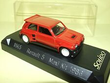 RENAULT 5 MAXI KIT 1986 Rouge SOLIDO 1:43