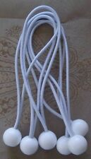"25 9"" White Ball Bungees Cord Strap Tie Down Tent Tarp Canopy Farm Truck Hunting"