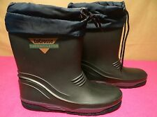 $85 Vintage LACROSSE Thermonator Black Rubber Insulated Winter Rain Boots Sz. 6