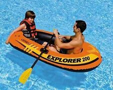 Intex Explorer 200 Inflatable Boat-Two Man Blow Up Raft with free hand pump