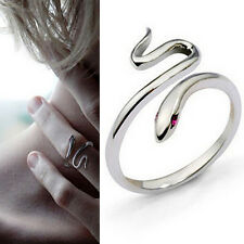 Charm Silver Plated Opening Adjustable Snake Finger Ring Women's Jewelry