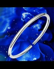 UK stamped 925 silver thick bangle new friend lady men birthday anniversary gift