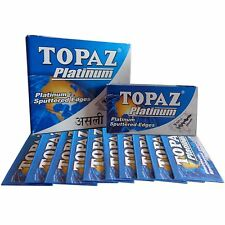 100 Blades x Topaz Platinum Safety Razor Double Edge Blades ( Sputtered Edges )
