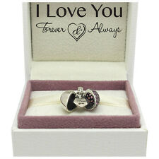 I Love You Heart Charm Bead - 925 Sterling Silver - An ideal Valentines gift
