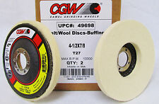 4-1/2 x 7/8 Felt/Wool Disc for Buffing, Finishing & Polishing. Lot of Two