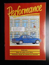 RARE Revue Performance 1987  Hergé en couverture