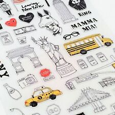 Suatelier New York Diary Travel USA Kawaii Stickers Stationery Planner Scrapbook