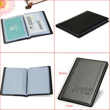 MENS BLACK LEATHER 60 BUSINESS NAME ID CARD HOLDER BOOK WALLET COVER CASE FOLDER