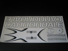 Cannondale Iroman Stickers  White & Silver.