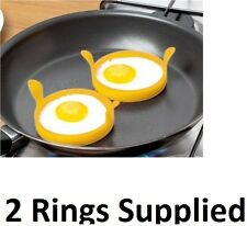 2 x Piece Silicone Silicon Egg Ring - Fry Fried Egg Ring KA0138-YELLOW, RED,BLUE