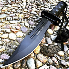 "11"" Tactical Fishing Hunting RAMBO Knife w Sheath Bowie Survival Kit Camping"