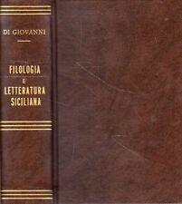 FILOLOGIA E LETTERATURA SICILIANA V.DI GIOVANNI 2 VOLUMI IN 1 TOMO 1871(UA562)