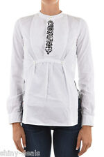 DSQUARED2 D2 New Woman White Embroidered Cotton Long Sleeved Blouse Shirt Sz 42