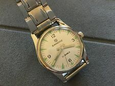 VINTAGE  SANDOZ WINDING 17 JEWELS  White And Green DIAL MEN'S USA seller