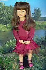 """Masterpiece Dolls Delaney, Brunette Exclusive Monika Levenig 39"""" Blue Eyes"""