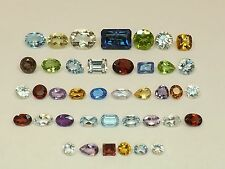 Sale 34.61tcw Mixed Lot Gemstones from scrap gold silver & vintage jewelry