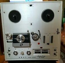 Akai X-150D Stereo Reel to Reel Tape Deck Partially Working Japan SN 7576 + Book