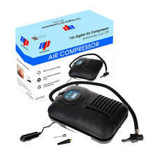 12V Digital Car Tyre Tire Inflator Electronic Air Compressor Pump + Valve Caps