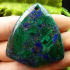 Beautiful Malachite & Pyrite Pendant Bead D060495