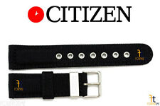 Citizen AT0660-05E 22mm Black Nylon Watch Band Strap AT0660-05F H500M-K006937
