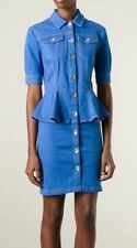 LOVE MOSCHINO  peplum waist denim dress Sizes UK 8, 12