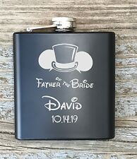 Flask Disney Inspired Personalized Father Of The Bride Engraved Groomsmen Gift