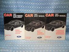 1987 Ford Tempo Mercury Topaz Original Shop Manual 3 Volume Set