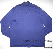 CALVIN KLEIN $89 NWT Half Zip Sweater Mens XXL 2X 2XL Purple SILK Blend NEW