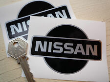 Nissan Car 90mm stickers 300Z Skyline Figaro DATSUN Black and Silver