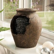 GARDMAN STONE EFFECT INDOOR WATER FOUNTAIN RIPPLING VASE WATER FEATURE FOUNTAIN