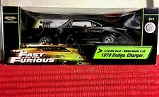 Ertl American Muscle The Fast And The Furious 1970 Black Dodge Charger 1:18, New