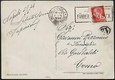 1938 - Visita di Hitler in Italia - Cartolina da Napoli con annullo speciale