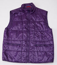 New Women's $495 FAY MILANO Violet Purple Quilted Nylon Outer Vest XL
