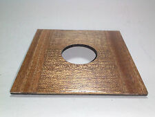 """1 LENS BOARD 4x4"""" of Solid Mahogany for WISNER, or CALUMET4x5"""", for #0"""