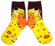 LADIES GUSTAV KLIMT THE KISS ART STUDENT ARTIST STUNNING SOCKS ONE SIZE FITS ALL