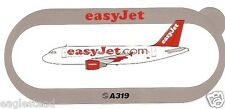 Baggage Label - easyJet - A319 - Switzerland - Airbus Sticker (BL322)