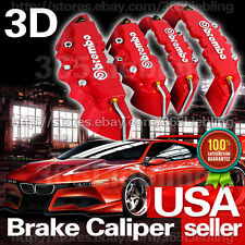 4P Red 3D Brake Caliper Cover Brembo Style Universal Disc Racing Front Rear CC05
