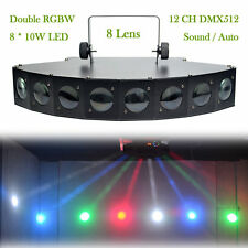 AUCD 80W 8 Head RGBY LED DMX Beam Projector Lighting DJ Party Home Stage Lights