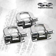 For 2006 07 08 09 10 H3 H3t Polished Chrome Front + Rear Tow Hooks Hummer 3pcs