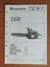Ersatzteilliste HUSQVARNA Motorsäge Kettensäge 268 list chain saw 1997